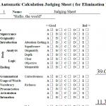 自動計算型Judging Sheet(予選審査用)